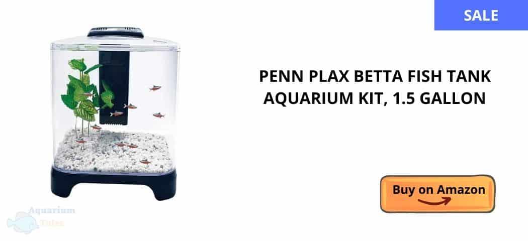 Penn Plax Betta Fish Tank Aquarium Kit, 1.5 Gallon