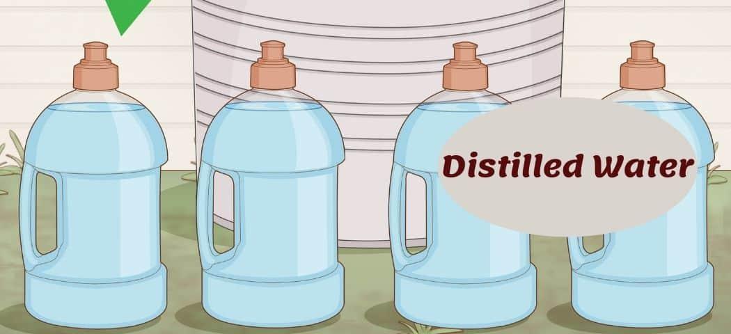 Distilled water As aquarium water softener