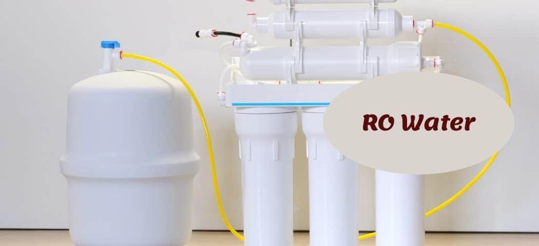 RO water As aquarium water softener