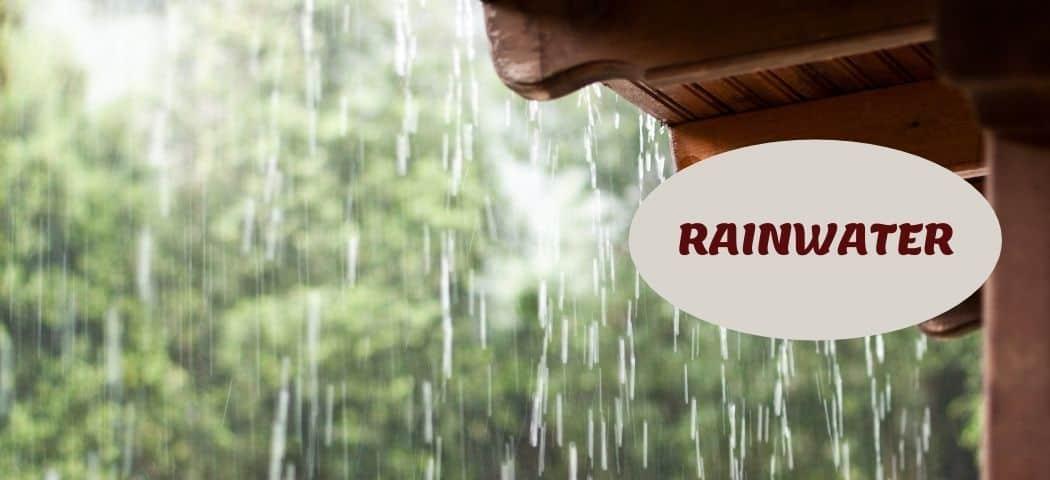 Rainwater As aquarium water softener