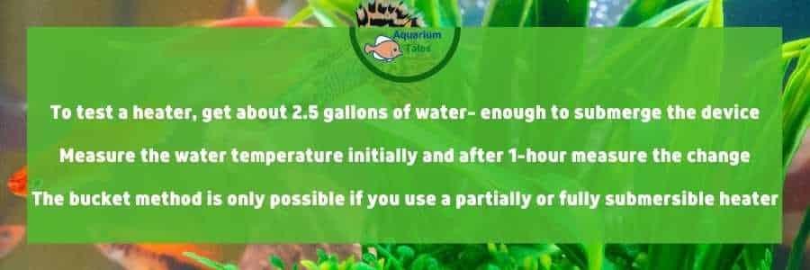 How Do I know If My Aquarium Heater Is Working - Bucket method