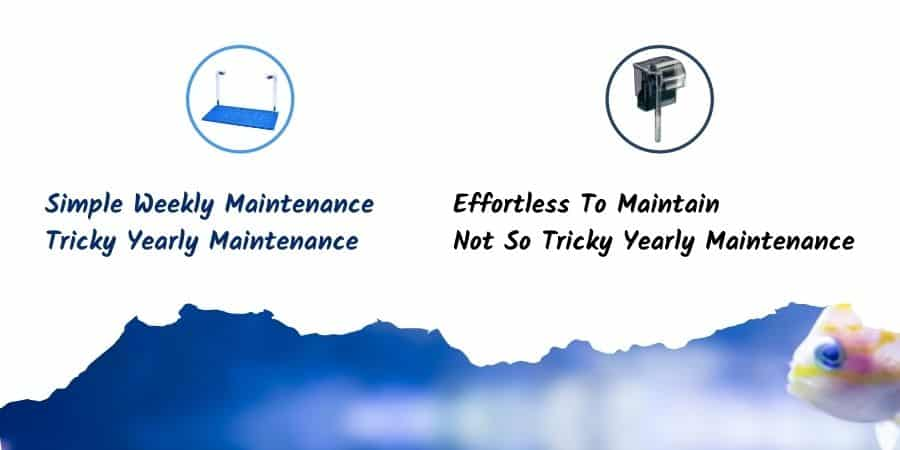 Undergravel Filter Vs Power Filter - Maintenance