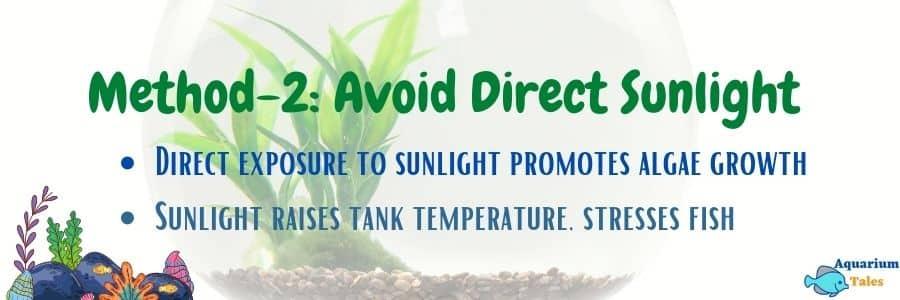 Method-2 Avoid direct sunlight