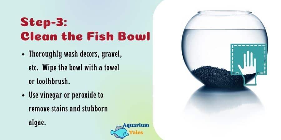 Step-3 Clean the Fish Bowl