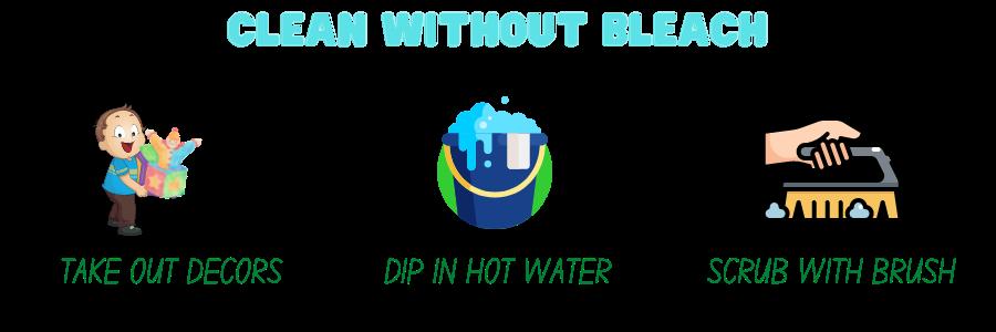 cleaning aquarium decorations - clean without bleach