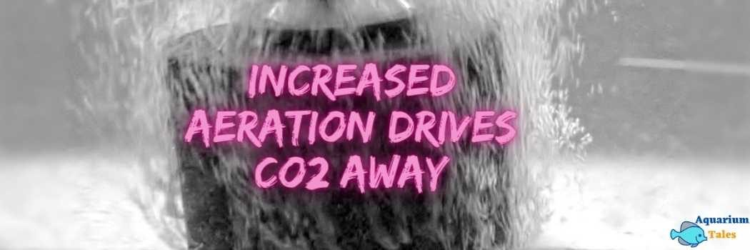 Aeration drives CO2 away